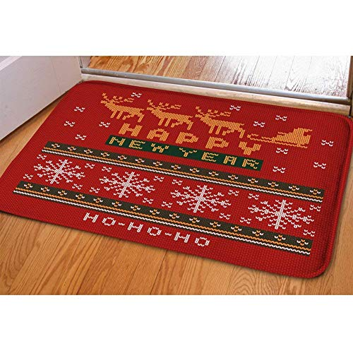 Nopersonality Merry Felpudo de Navidad para Puerta