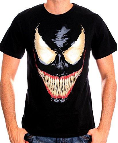 marvel-carnage-t-shirt-imprime-col-rond-manches-courtes-homme-noir-medium-taille-fabricant-m