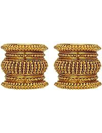 Mansiyaorange Traditional Fancy Designer Casual Party Wedding Wear Original Hand Work One Gram Gold Antique Style...