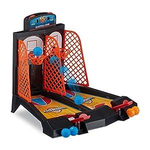 Relaxdays Basketball Tischspiel, lustiges Tisch Basketballspiel, für Kinder...