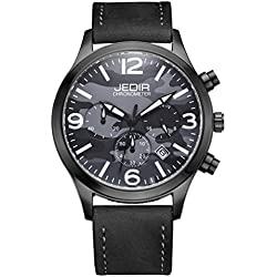 YPS Men Camouflage Dial Fashion Quartz Multifunction Sub Dials Calendar Wristwatch WTH5346