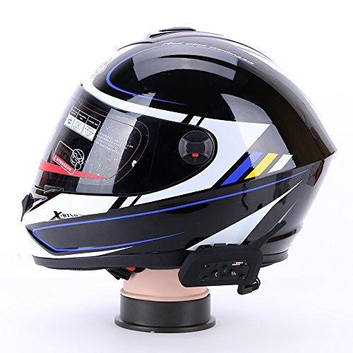 Excelvan-cuffie-stereo-e-microfono-interfono-Bluetooth-per-moto-impermeabile-compatibile-con-Casco-per-GPS-Musica-e-Cellulare