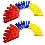 Verschluss-Klammern / Verschluss-Clips bunt, 40 Stück im Set, Aroma-Clips für Küche zum praktischen Verschließen von Tüten, Farbe: Rot / Blau / Gelb - Marke YOUZiNGS
