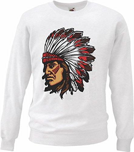 Sweatshirt Damen'Motiv-302050'Größe'2XL'Farbe'Weiss'Druck'