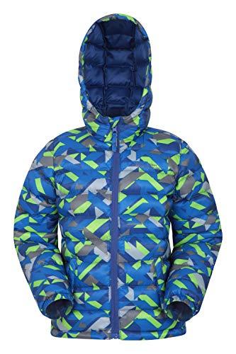 Mountain Warehouse Seasons Jungen Gefütterte Jacke - Gefütterte Isolierung Winterjacke, wasserdicht Kinderjacke, Taschen - Ideal für den täglichen Gebrauch Kobalt 128 (7-8 Jahre)