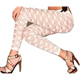 Sexy White Lace Leggings Jeggings Tights Fancy dress Clothing one size 8 10 12