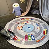 BEAUTIFULNUHAI Für Christmas1.5m Baumwolle Teppich Runde Kinder Gym Rug Spielmatte Baby Spielzeug Beutel Baby Krabbeln Decke Outdoor Pad b