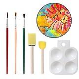 Sheep-H Schwamm Malerei Pinsel Set, Art Craft DIY Zeichnen Pinsel-Set Palette und Schürze Malen Tools für Kinder Early Learning