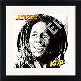 LP Vinyl Cover Rahmen zum Aufhängen in schwarz mit Passepartout in weiß - Wechselrahmen aus Glas und Holz für Schallplatten Album Plattencover - quadratisch