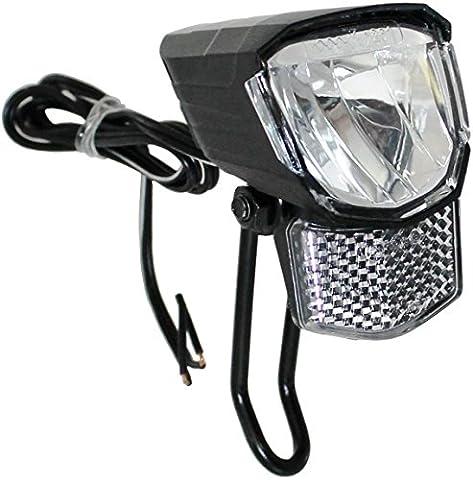 LED Scheinwerfer 45 Lux mit Standlicht für Nabendynamo Fahrradscheinwerfer