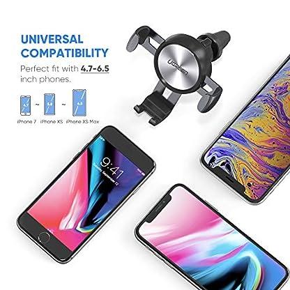 UGREEN-Handyhalterung-Auto-Lftung-Autohalterung-Handy-Halterung-KFZ-Handy-Halter-fr-Auto-360-drehbar-kompatibel-mit-iPhone-XS-XR-X-Samsung-S10-S9-Huawei-P20-Mate10-und-MP3-bis-65-Zoll