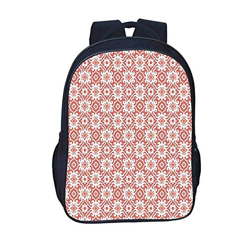 Kids Backpacks Medieval Durable Backpack,Retro Vintage Stylized Illustration of Middle Age...