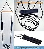 H&K-Sportperformance Schlingen Suspension Functional Sling Trainer inkl. Abstandshalter mit schwarzen Schlaufen
