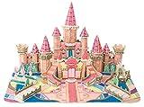 Saffire Painting Castle, Academy 3D DIY Paper Jigsaw Puzzle with Water Colour Pen, Multi Color