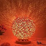 Nachtlicht-Geburtstagsgeschenk des romantischen Sternprojektors des Betts kreatives INS, das Schnurball-Rattanball-Tischlampe 20CM verdunkelt