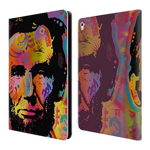 Ufficiale Dean Russo Abraham Lincoln IV Leader Famosi Cover a portafoglio in pelle per Apple iPad Pro 9.7