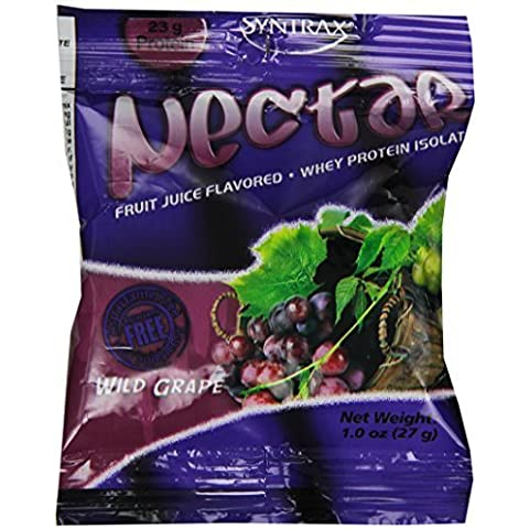 Syntrax Nectar Grab N Go Whey Protein, Wild Grape, 12 Count (27g) Packets by Syntrax