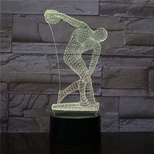 Diskuswerfen Tischlampe Kopf Skulptur Charakter Touch Sensor dekoratives Licht Kinder Nachtlicht