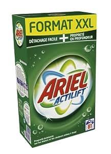 Ariel - 81308430 - Lessive Poudre - Actilift Régulier - 81 Doses
