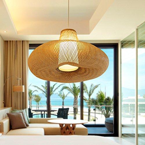 Il sud-est asiatico Stile di bambùCreative stile Thai resort decor e lampada da giardino lampade a Sospensione,Il bambù diametro naturale60cm