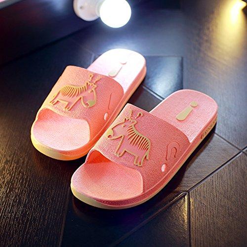 DogHaccd pantofole,Pantofole estate femmina coppie bagno anti-slittamento home home bagno interno pavimento di plastica cool pantofole estate uomini di spessore Il rosso2