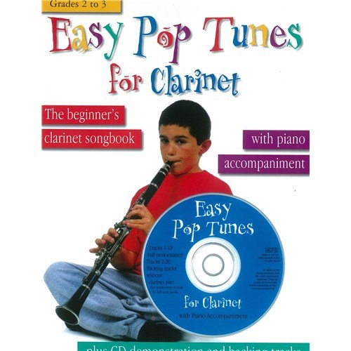 Easy Pop Tunes For Clarinet: Grades 2-3. Partitions, CD pour Clarinette, Accompagnement Piano
