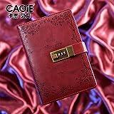 Rétro PU couverture en cuir avec Combinaison de serrure Carnet d'affaires moderne Journal journal intime
