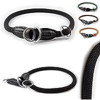 [Gesponsert]Training-Line von CarlCurt: Retriever-Hundehalsband aus strapazierfähigem Nylon, XS 44-46cm, schwarz