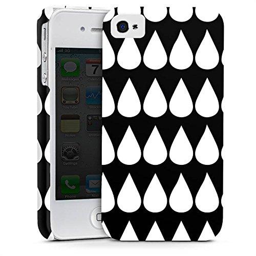 Apple iPhone X Silikon Hülle Case Schutzhülle Schwarz Weiß Tropfen Muster Premium Case glänzend