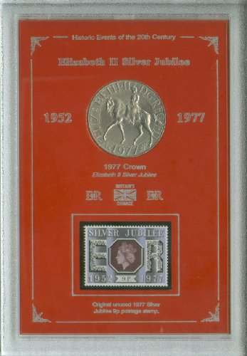 The Queen Queen's Silver Jubilee Crown Coin & Stamp Present Display Gift Set 1977