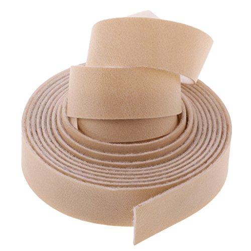 Gazechimp Lederband flach Breite1.5cm / Länge 10m Farbe wählbar - Beige, 10 Meter x15mm