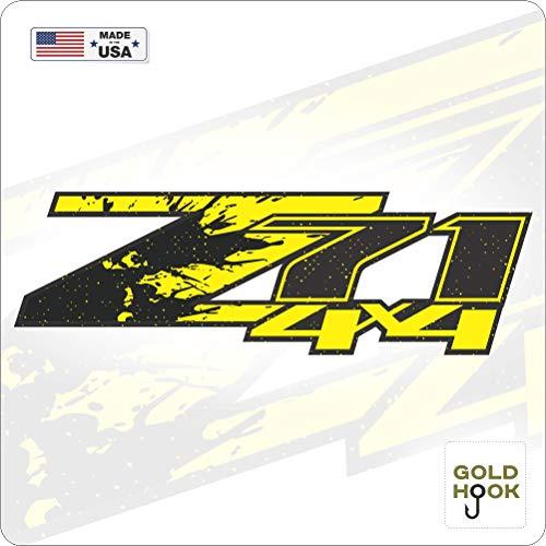 GOLD HOOK Aufkleber mit goldfarbenem Haken, Z71 Logo, für Nachttisch, Chevy Silverado, GMC Sierra, LKW-Aufkleber