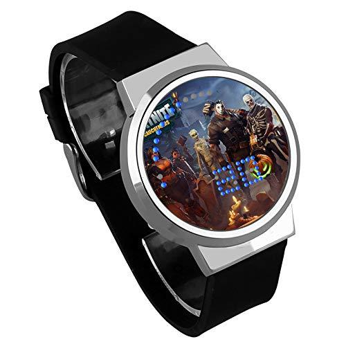 Shuofeng Tech Fortnite Watch Fortnite Juego de Tiro atlético Noche luz Touch LED Creativo electrónico Estudiante Reloj para niños y niñas (One, 22)