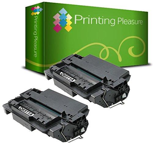 PRINTING PLEASURE 2 Toner kompatibel für HP Laserjet 2400 / 2410 / 2420 / 2430 Serie / Q6511A / 11A Schwarz / Black Hp Q6511a