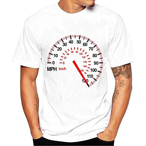 MOIKA Herren T Shirt, Mode Männer Printing Tees Shirt Kurzarm T Shirt Bluse Party, Täglich, Strand(L,Weiß) (Vintage-zombie-kostüm)