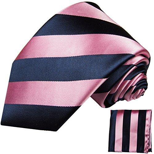 Cravate homme rose bleu rayée ensemble de cravate 2 Pièces ( longueur 165cm )