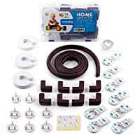 Home Protection Set - child & baby proofing - cupboard locks , corner protectors , kids plug socket covers uk , kitchen cupboards sockets protector latch , corners table proof lock cover home catches drawer fireplace edge guard cabinet door guards plugs secure childrens childproof drawers kit