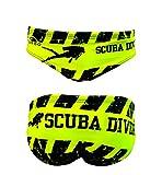 Turbo - Bañador Slip Scuba Diver de Waterpolo Competicion Natación y Triatlón Patrón de Ajuste cómodo (L/34)