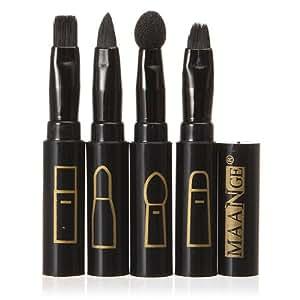 4 En 1 Pinceau Brosse Multi-fonction Noir Maquillage Teint Paupieres Yeux Eponge