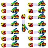 CAILI Lacci Delle Scarpe,Lacci Scarpe Piatti,Larghi Lacci Colorati Piatti,Lacci Per Scarpe Ideali Per Ogni Tipo Di Calzatura,Può Anche Essere Usato Come Decorazioni,Nastri Regalo (1.1M,15 Paia)