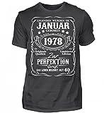 Hochwertiges Herren Premiumshirt - Legenden - Januar 1978 - 40. Geburtstag