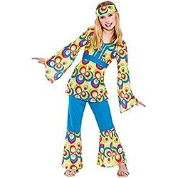 Disfraz las niñas 70's Hippie (M) 122-134cm