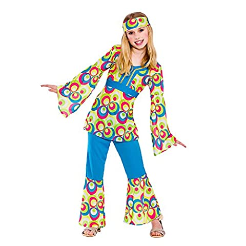 Girl Costume Hippie - Girls Retro Hippie Girl Fancy Dress Up