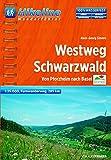 Hikeline Westweg Schwarzwald 1:35 000: Von Pforzheim nach Basel (Hikeline /Wanderführer)