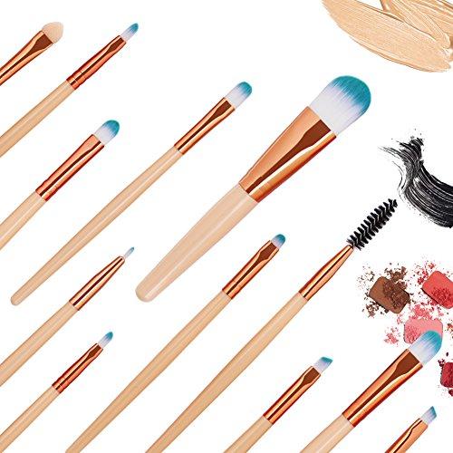 Pinceaux de maquillage de fard à paupières poudre Foundation 15PCS Pro Set Bulary