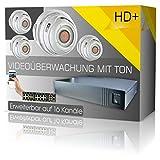 DVS Germany - IP Überwachungskamera Set mit Tonaufnahme inkl. 4K-Recorder und Zubehör - 160016-2000GB Festplatte