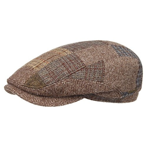 belfast-patchwork-coppola-stetson-cappello-piatto-flat-cap-58-cm-marrone