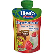 Hero Nanos Bolsita Merienda Yogur Fresa - 100 gr - [Pack de 18]