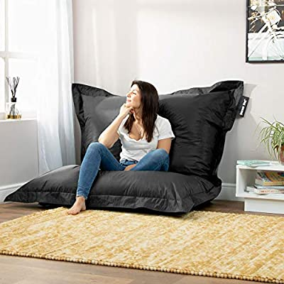 Bazaar Bag - Giant Bean Bag Chair, 180cm x 140cm, Large Indoor Living Room Gamer Bean Bags, Outdoor Water Resistant Garden Floor Cushion Lounger