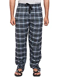 Twist Men's Blue And Navy Blue Checked Cotton Pyjama Sleepwear Night Wear With Contrast & Free Shipping